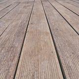 Close up de madeira da plataforma das pranchas Fotografia de Stock