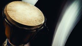Close up de madeira de Djembe Foto de Stock