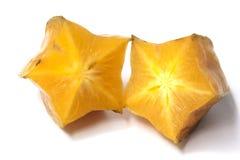 Close up de metades duas estrelas dos frutos imagens de stock