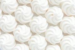 Close up de Mini Meringues como o fundo do alimento Fotos de Stock