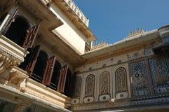 Close up de Mor Chok (quadrado do pavão) em Udaipur, Índia Imagem de Stock