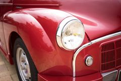 Close up 1952 de Morris Minor Series II Imagem de Stock