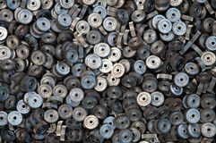 Close up de muitas engrenagens do metal Fotografia de Stock