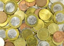 Close up de muitas moedas do bielorrusso Fotografia de Stock
