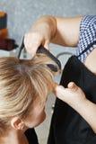 Close up de ondulação do cabelo Imagem de Stock Royalty Free