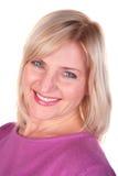 Close-up de op middelbare leeftijd van het vrouwengezicht Royalty-vrije Stock Foto