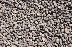Close up de pedra, marrom esmagado do cascalho Imagens de Stock