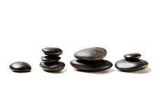 Close up de pedras quentes da massagem Fotografia de Stock Royalty Free