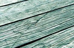 Close-up de pranchas de madeira tonificadas cianas fotos de stock