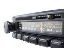 Close-Up de rádio velho de FM Fotos de Stock