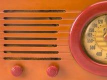 Close-up de rádio retro Fotos de Stock Royalty Free
