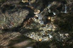 Close up de reflexões claras na água Fotos de Stock Royalty Free