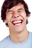 Close up de riso do indivíduo Fotos de Stock Royalty Free