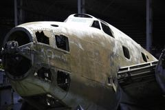 Close-up de Rusty Old Hudson Bomber Fuselage fotos de stock