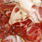 Close up de Salumi do italiano imagens de stock