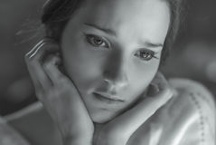 Close-up de sorriso da mulher Foto de Stock
