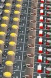 Close-up de Soundboard foto de stock royalty free