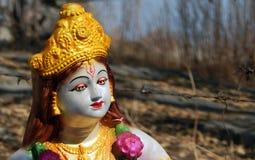 Close up de Sri Krishna Idol imagem de stock