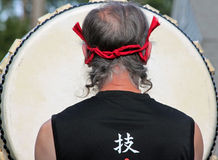 Close up de Taiko Drummer japonês imagem de stock royalty free
