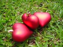 Close up de três corações Imagens de Stock Royalty Free