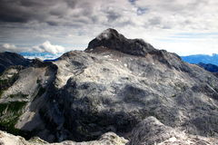 Close-up de Triglav, ponto culminante do país, Julian Alps, Eslovênia imagens de stock royalty free