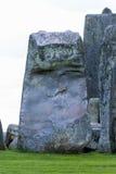 Close up de trilithons de pedra maciços do patrimônio mundial de Stonehenge imagem de stock