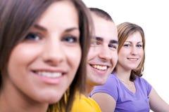 Close up de três estudantes Foto de Stock Royalty Free