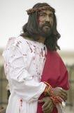 Close-up de um ator que retrata o Jesus Cristo Imagem de Stock Royalty Free