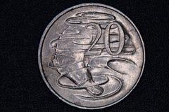 Close up de um australiano moeda de 20 centavos Imagem de Stock