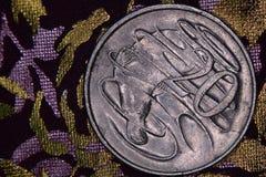 Close up de um australiano moeda de 20 centavos Fotografia de Stock Royalty Free