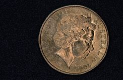 Close up de um australiano moeda de 1 dólar Fotografia de Stock