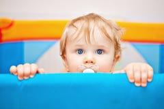 Close up de um bebê do ano Fotografia de Stock