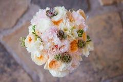 Close up de um boquet bonito das flores Fotografia de Stock Royalty Free