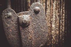 Close up de um cadeado rústico muito velho Fotos de Stock