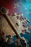 Close up de um fechamento velho do vintage foto de stock royalty free