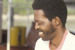 Close-up de um homem afro-americano, o Cairo, IL fotografia de stock royalty free