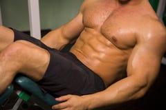 Close-up de um homem atlético Imagens de Stock