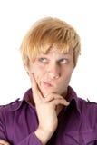 Close up de um homem de pensamento novo Fotografia de Stock Royalty Free