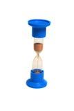 Close-up de um hourglass. fotografia de stock