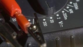 Close up de um interruptor de seletor do verificador da rede vídeos de arquivo