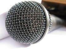 Close-up de um mic preto Foto de Stock