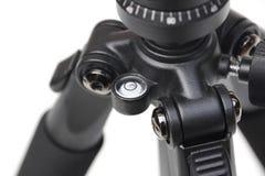 Close up de um nível de bolha de um tripé de câmera Fotos de Stock Royalty Free