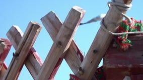 Close-up de um quadro de madeira da parede filme