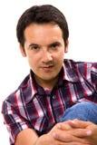 Close-up de um retrato ocasional do homem Fotografia de Stock
