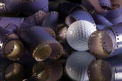 Close-up de um rolo filmes fotográficos de 35 milímetros Imagens de Stock