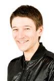 Close up de um sorriso feliz do homem novo Fotos de Stock