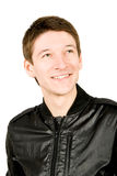 Close up de um sorriso feliz do homem novo Imagens de Stock Royalty Free