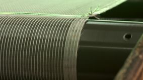 Close-up de um transporte mais seco industrial video estoque