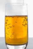 Close-up de um vidro da cerveja Fotos de Stock Royalty Free