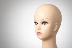 Close up de uma cabeça fêmea do manequim Fotografia de Stock